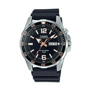 Casio Men's Classic Stainless Steel with Black Face Dive Style Watch MTD1079D-1AV