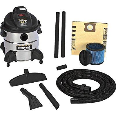 Shop-Vac 5866110 8 Gallon 5.5 Peak HP Stainless Steel Right Stuff Wet/Dry Vacuum