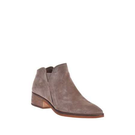 dolce vita women's tay ankle boot, dark taupe suede, 6 medium