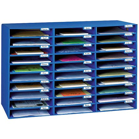 Classroom Keepers 30 Slot Cardboard Mailbox With Individual Name Tabs