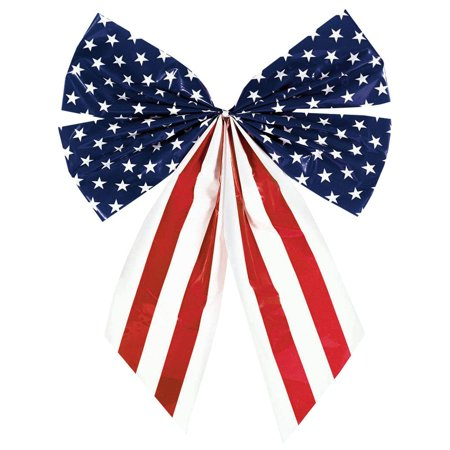 Plastic Flag 4 -Loop Decorative Bow (Each) - Party Supplies