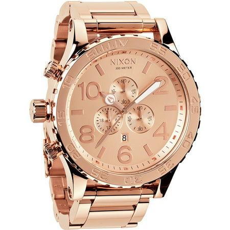 Nixon Men's 51-30 Chrono Rose Gold Stainless Steel Watch - Nixon Gold Wrist Watch
