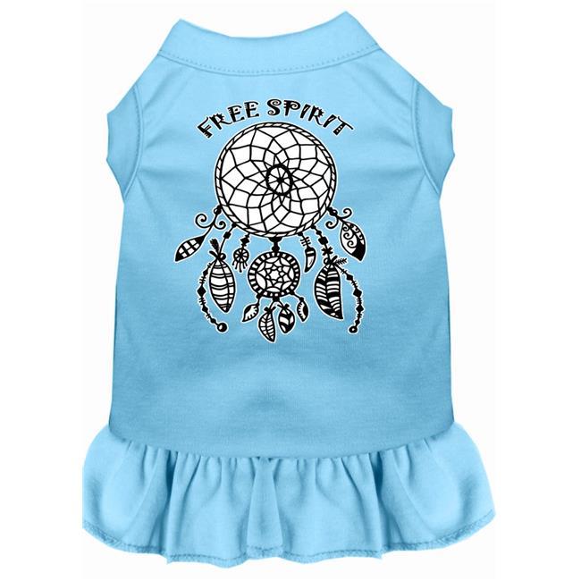 Free Spirit Screen Print Dog Dress Baby Blue Xs (8) - image 1 of 1