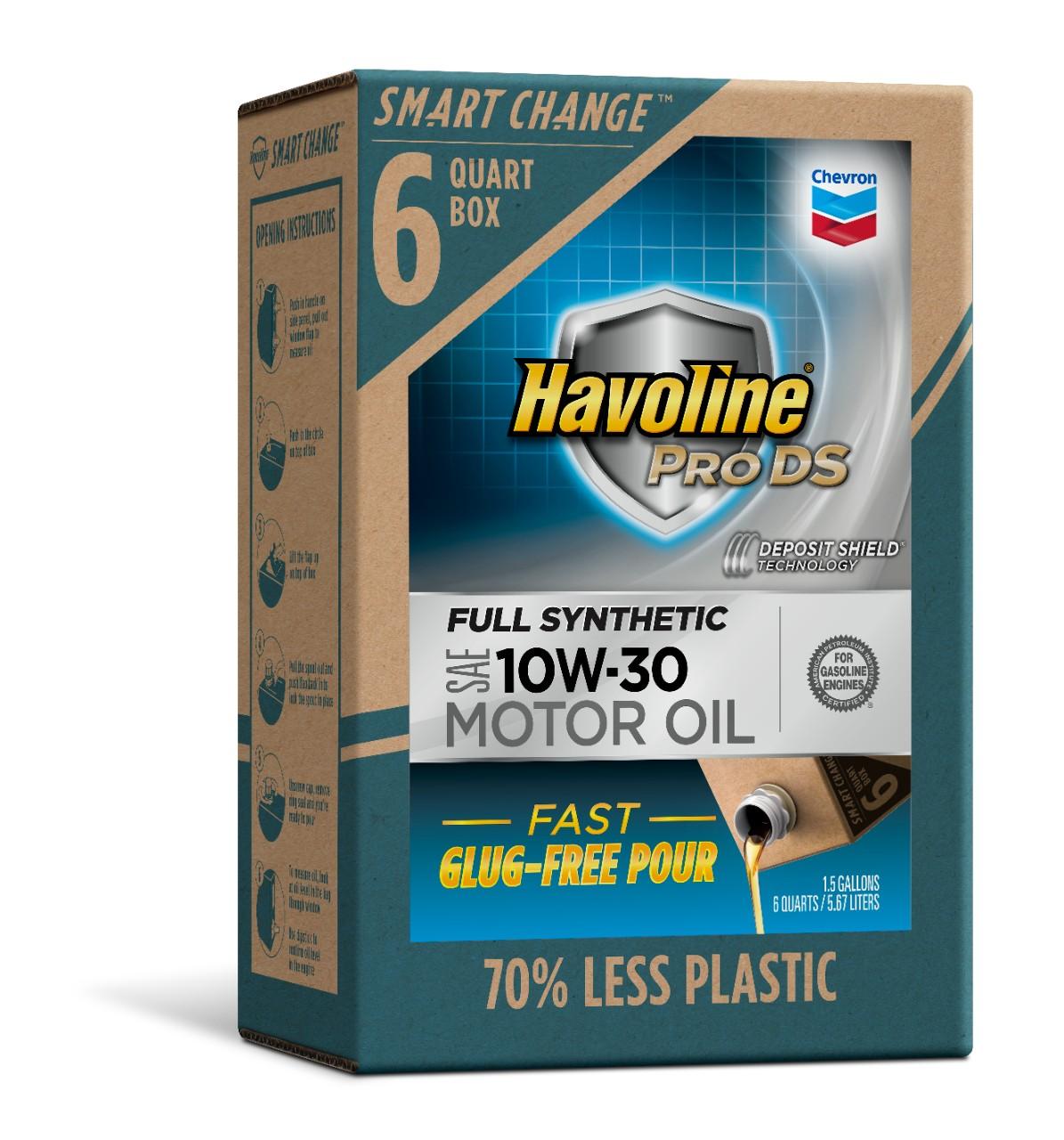 Havoline SMART CHANGE® ProDS 10W-30 Full Synthetic Motor Oil, 6 qt.