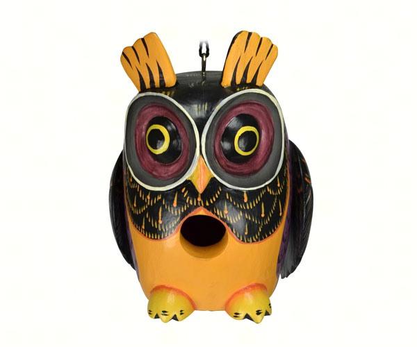 Songbird Essentials SE3880215 Fall Colors Owl Gord-O Birdhouse by