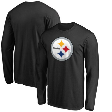 Pittsburgh Steelers NFL Pro Line by Fanatics Branded Big & Tall Primary Logo Long Sleeve T-Shirt - Black
