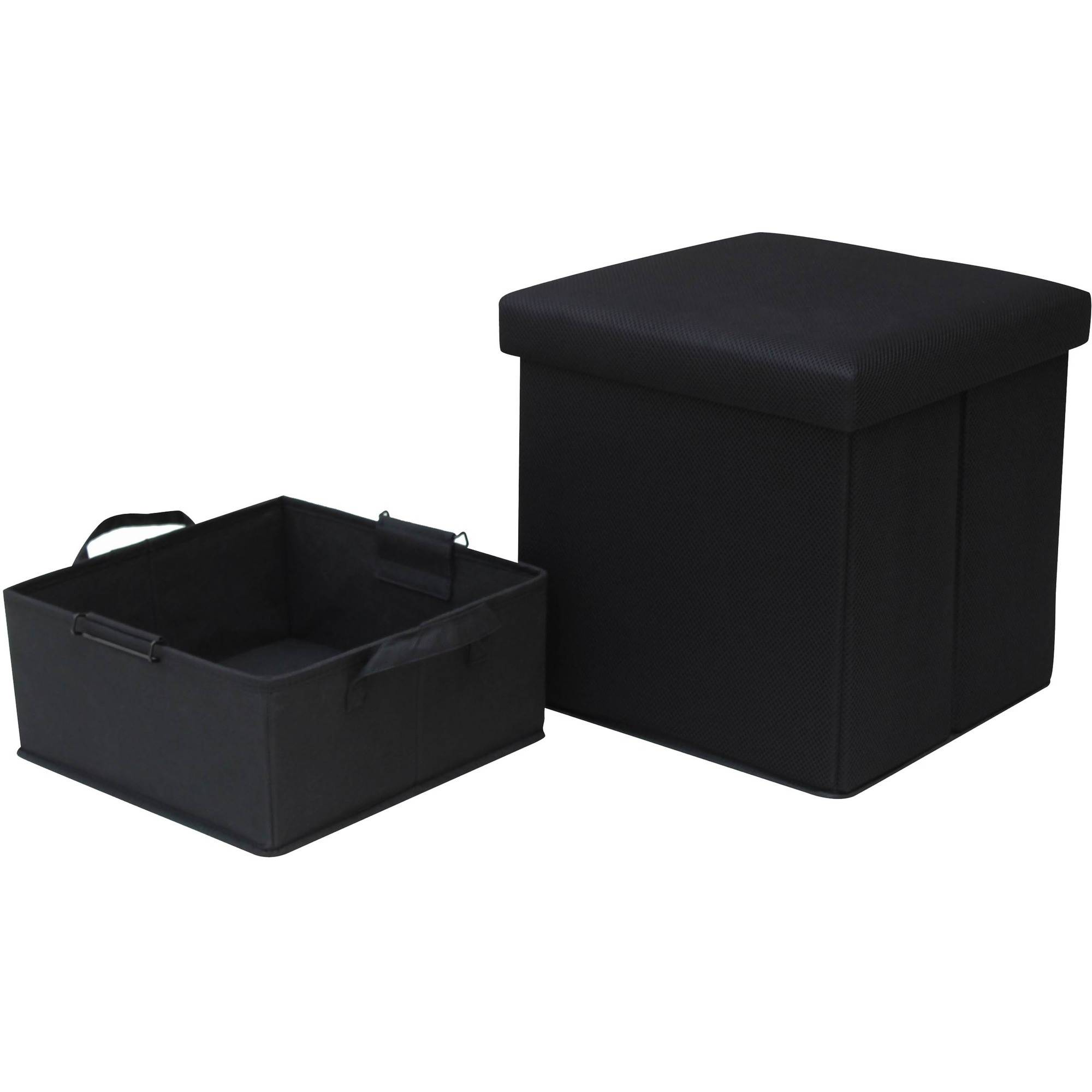 Mainstays Collapsible Storage Ottoman with Removable Bin Walmartcom