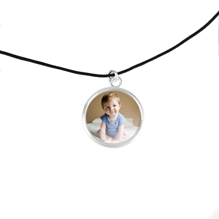 Corded Photo Necklace with Message Card and Gift Box