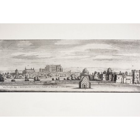 London England St Jamess Palace Westminster Hall And Pall Mall In 1660 From A Contemporary Drawing From Memoirs Of The Martyr King By Allan Fea Published 1905 PosterPrint
