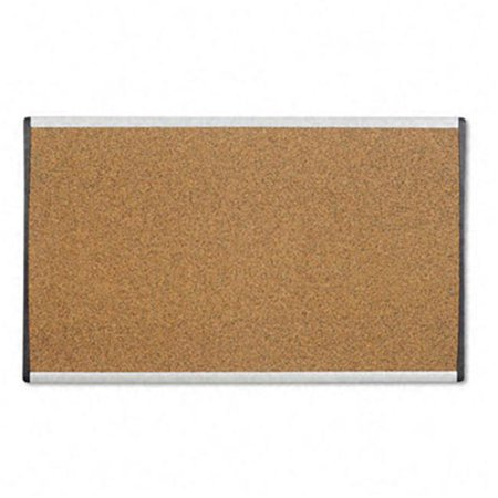 Cubicle Arc Frame Colored Cork Board  14 x 24  Tan  Aluminum Frame - Christmas Cubicle Decor