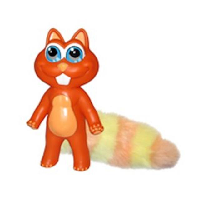 PetProjekt C10047 Large Squirrel Chewbies Dog Toy, Orange
