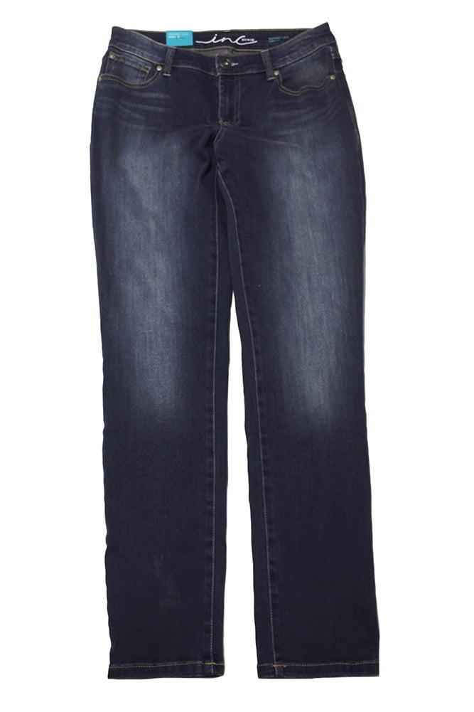 Inc International Concepts Blue Curvy-Fit Tikglo Wash Skinny Jeans 6