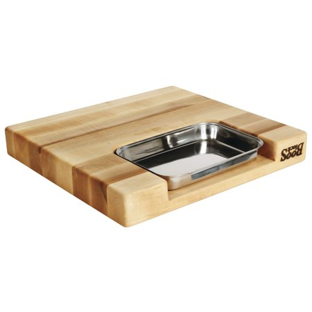 John Boos Newton Prep Master Maple Wood Cutting Board - 15