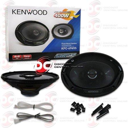brand new kenwood sport series 6x9 6x9-inch 3-way car audio speakers pair 800w
