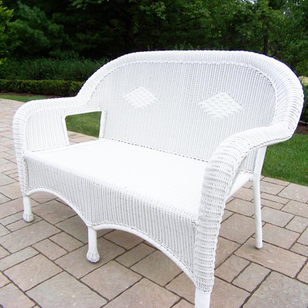 53 5 Bright White Stylish Outdoor Patio Resin Wicker Love