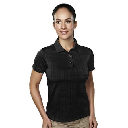 - Tri-Mountain Lady Montecito 021 Jacquard Knit Polo Shirt, 3X-Large, Black