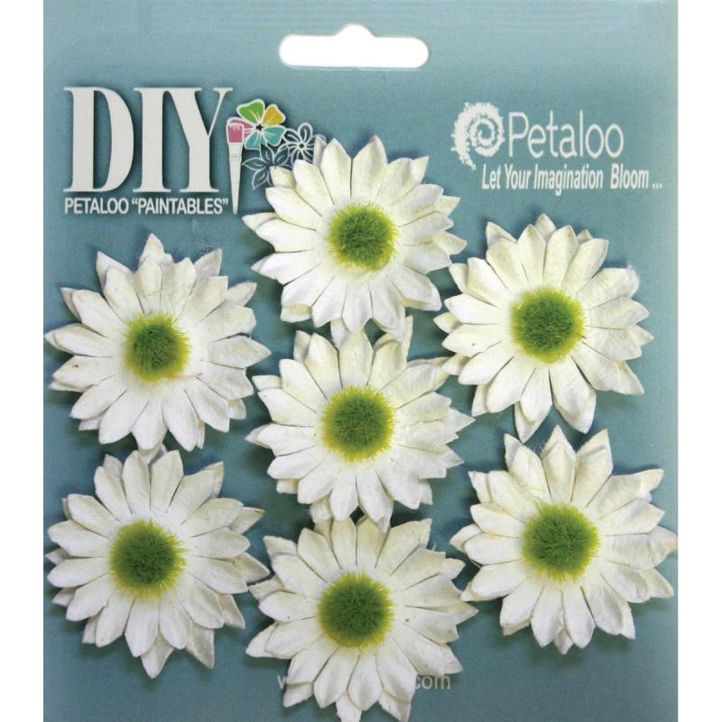 "Diy Paintables Darjeeling Mini Daisies 1.25"" 7/pkg-white"
