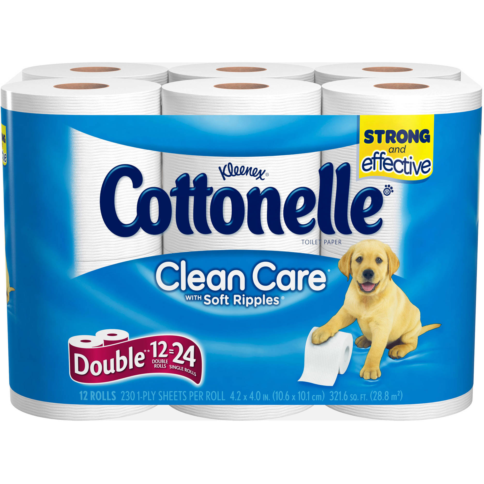 Cottonelle Clean Care Double Roll Toilet Paper With Soft Ripples