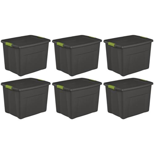 6 pack) Sterilite 19401006 Large 22 Gallon Latching Storage Tote Box Containers