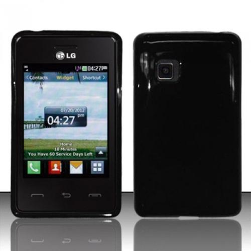 Insten Black TPU Soft Gel Candy Case Cover For LG 840g