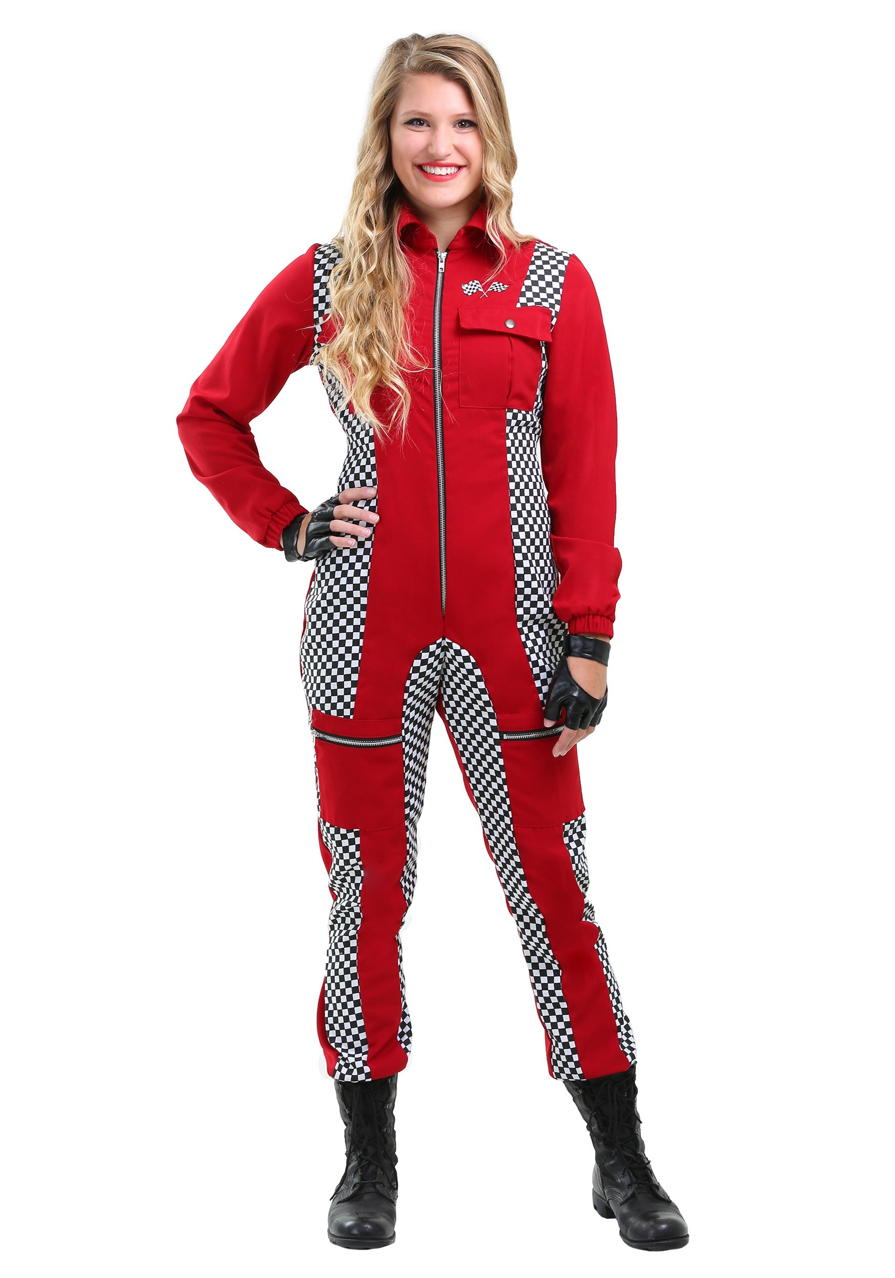 Women Racing Costume Car Driver Nascar Racer F1 For Halloween Costume