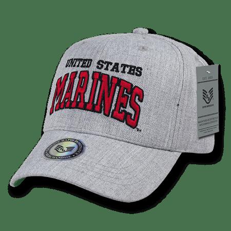 USMC Marines Official Heather Grey Military Caps Hats Military Usmc Insignia Caps