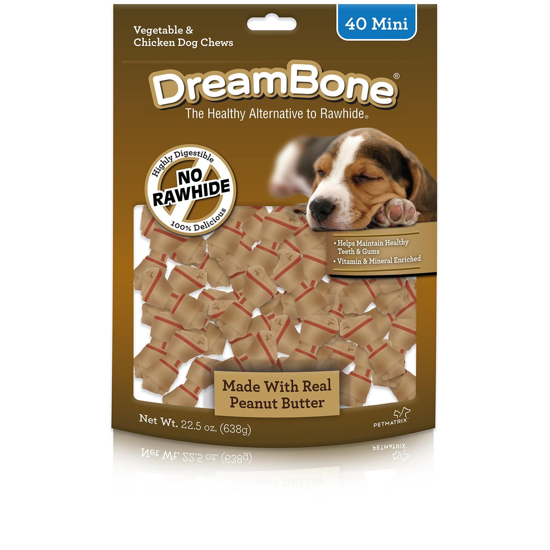 DreamBone Mini Vegetable & Chicken Dog Chews, 40-Count