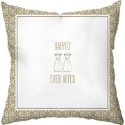 Checkerboard, Ltd Wedding Two Gowns Throw Pillow