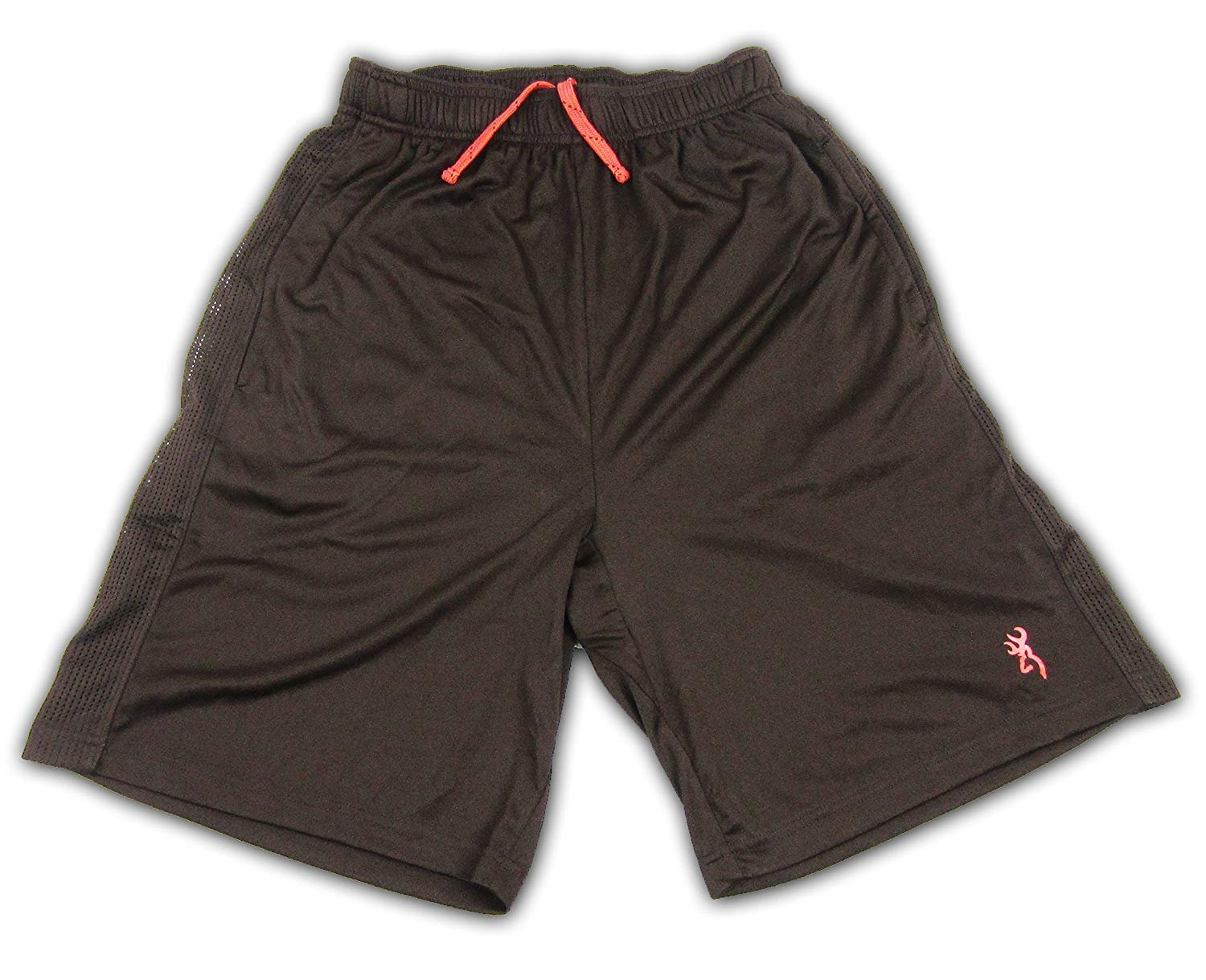 Browning Mens Snare Shorts Timber Brown with Camo Performance Basketball Shorts