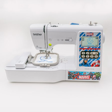 LB5000M Marvel Computerized Sewing & Embroidery Machine with character faceplates and 10 included downloadable Marvel designs Embroidery Designs Sewing Machines