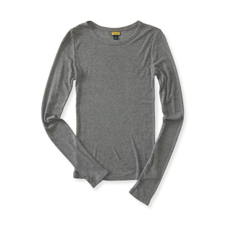 Aeropostale Juniors Ribbed Ls Basic T-Shirt