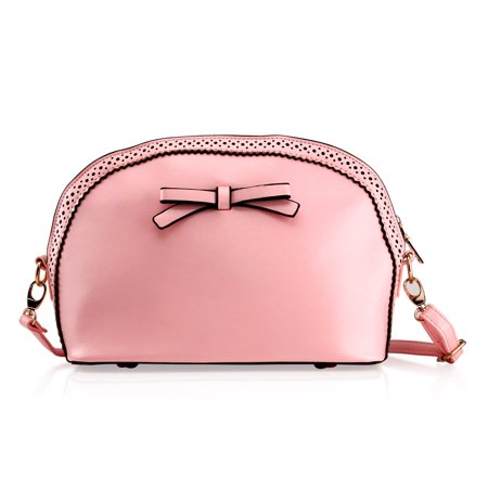 GEARONIC TM - Fashion Women Handbag Bow Tie Shoulder Bags Tote Crossbody  Satchel Purse PU Leather Lady Messenger Hobo Bag (Mothers day Gift) - Light  Pink ... f8ab538f13af7