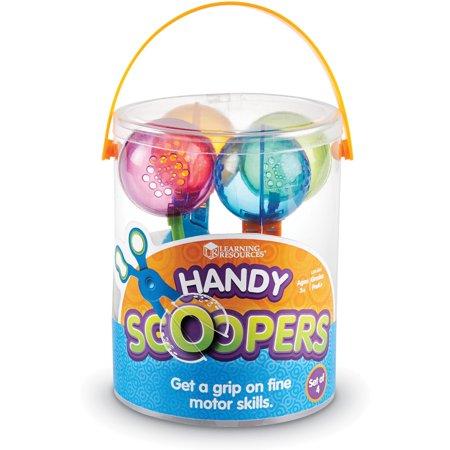 Learning Resources, LRNLER4963, Handy Scoopers, 4 / Set, Translucent,Assorted