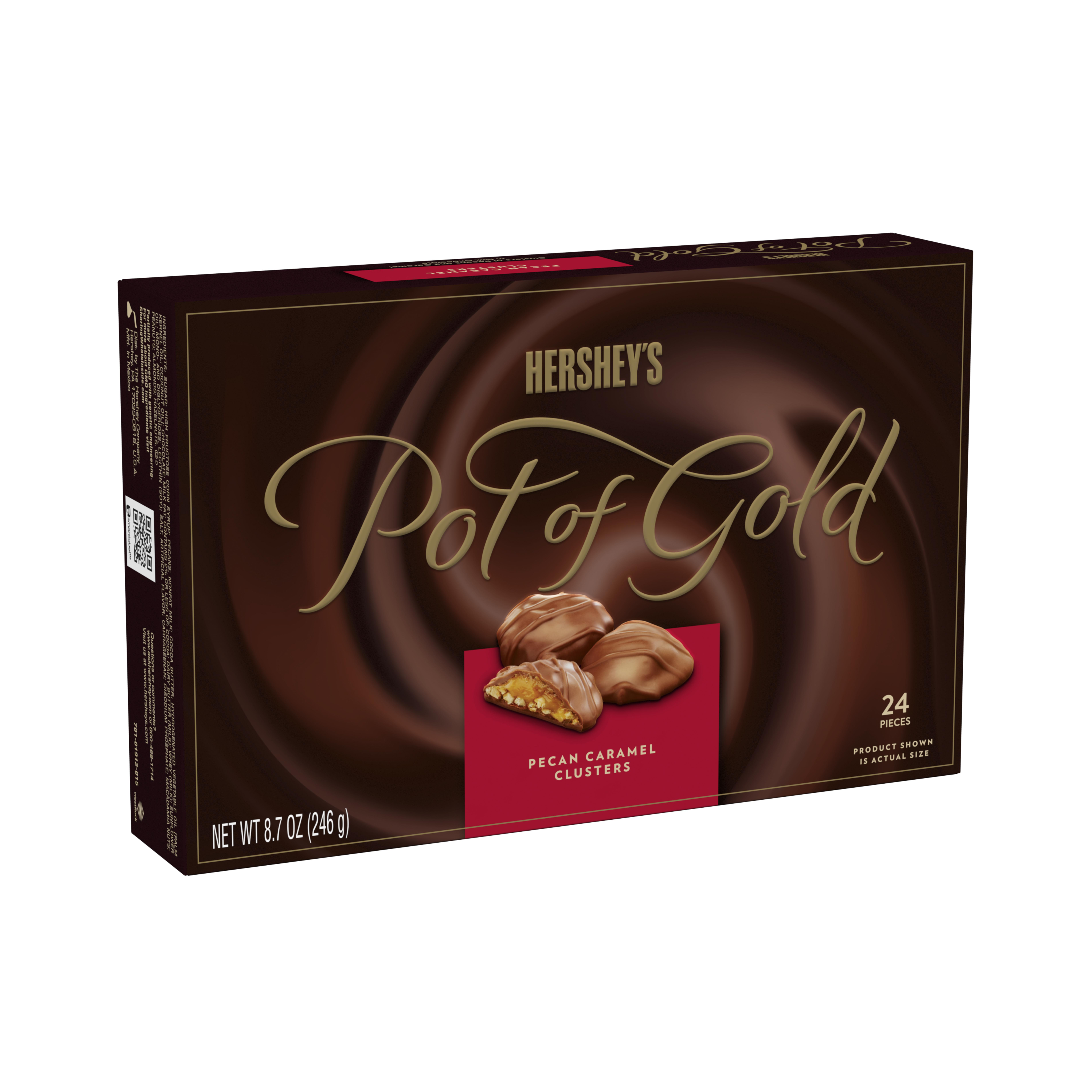 Hershey's Pot of Gold, Pecan Caramel Clusters Candy, 8.7 Oz - Online Only