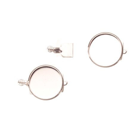 4pcs Box Tab Clasp For Jewelry Making With 12mm Bezel Cup - Silver Plated 14x20mm Earring Making Supplies](Cut And Paste Halloween Crafts)