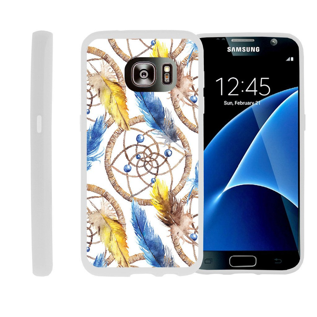 Flexible Case for Samsung Galaxy S6 Edge | SM-G925 Case [ Flex Force ] Lightweight Flexible Phone Case - Dream Catcher