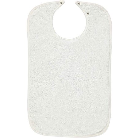 True Adjustable Snap - Nobles 6 Terry Adult Bibs/Clothing Protector with Vinyl Barrier Size 18