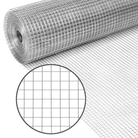Best Choice Products Multipurpose 3x50-foot Double-Zinc 19-Gauge Galvanized Chicken Cage Wire Fence Netting for Poultry Coop, Animal, Garden Protection with 0.5-inch Openings,