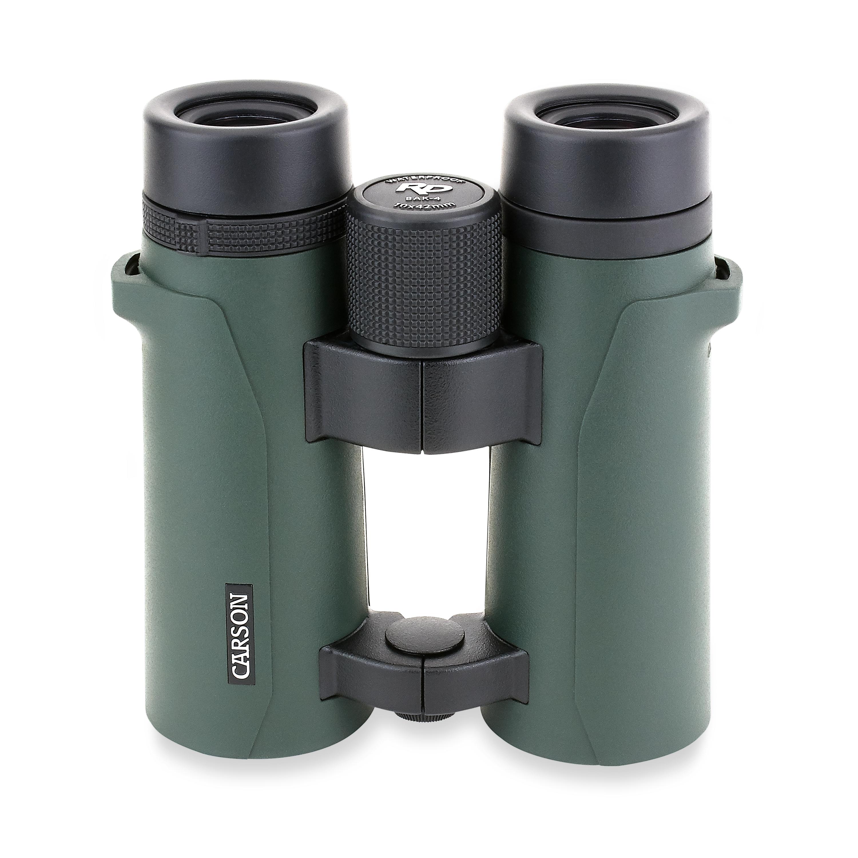 Carson 10x42mm RD Series Open-Bridge Waterproof Full Size High Definition Binoculars