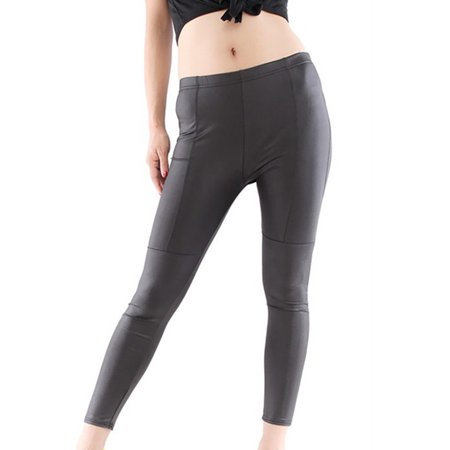 OUMY Women High Waist Leggings Stretchy PU Leather Slim Pencil Pants (Halloween Leather Pants)