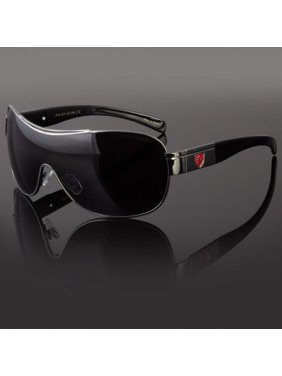 fd8d52db1f16 Product Image Khan Mens Designer Shield Wrap Around Large Sunglasses  Fashion Shades Retro
