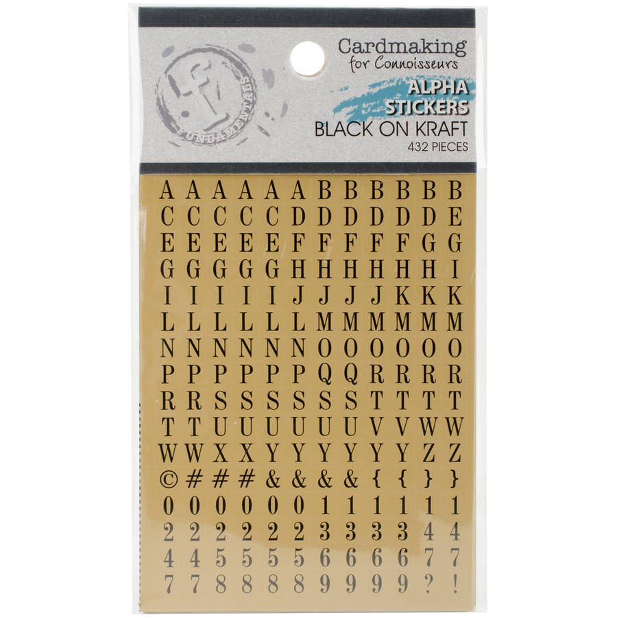 Fundamentals Alphabet Stickers, 432pk