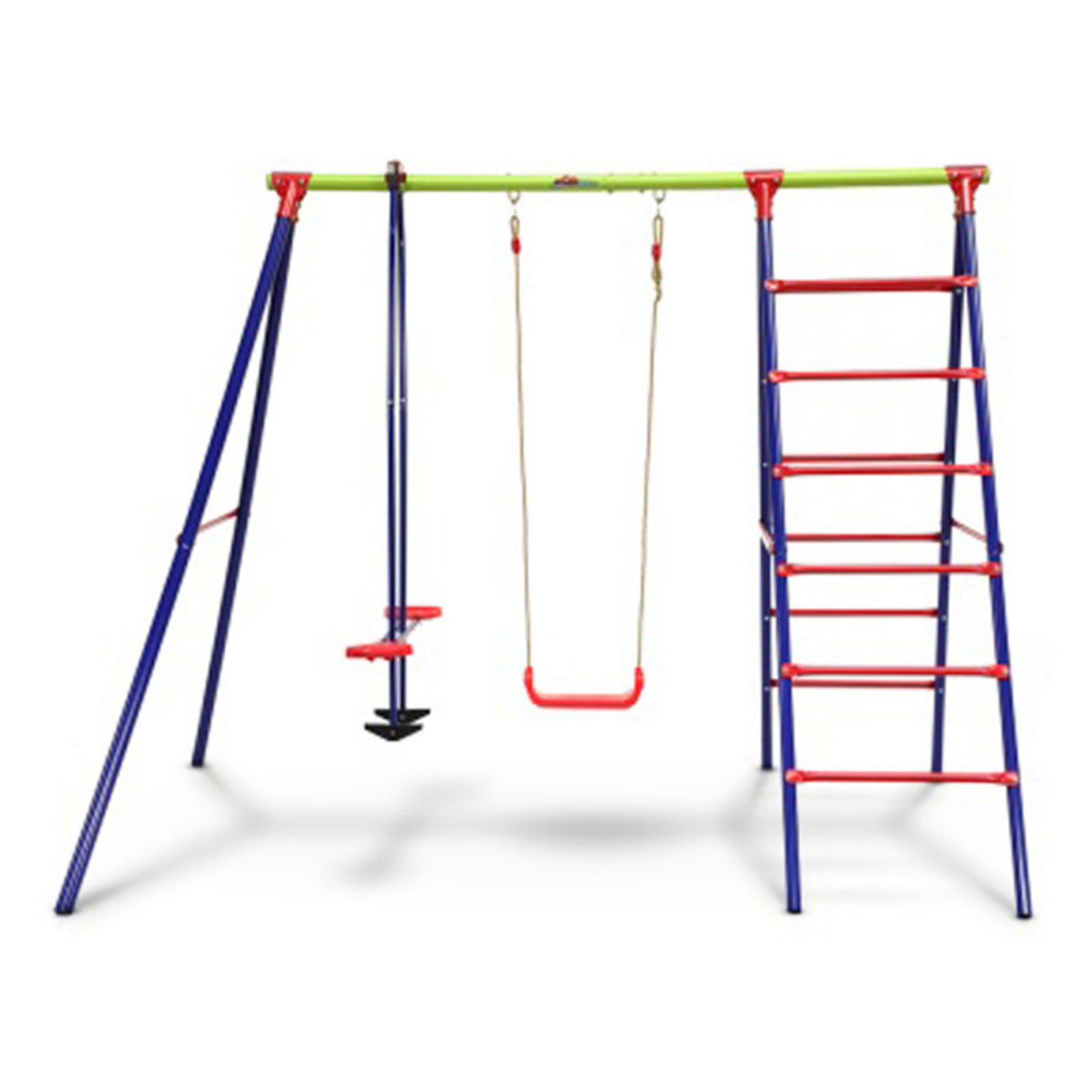 Outward Play Burke Swing Set and Play Center with Seasaw Swing and Climbing Ladder