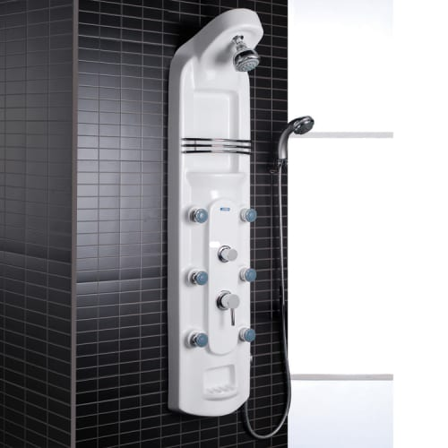 "Ariel A115 56"" H x 11"" W Shower Panel Thermostatic with Rain Shower Head, Hand S"