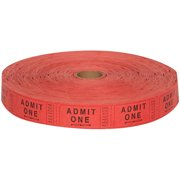 Carnival Ticket Roll Red or Orange, 1 roll of 2000pk