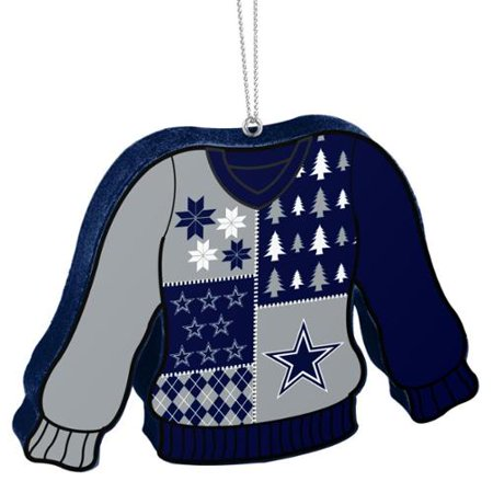 hot sale online 02c1a 00b41 Dallas Cowboys Official NFL 5.5 inch Foam Ugly Sweater Christmas Ornament  by Forever Collectibles