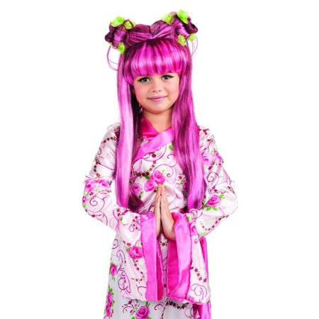 Pink Asian Princess Costume Accessory Wig Child - Asian Princess Costume