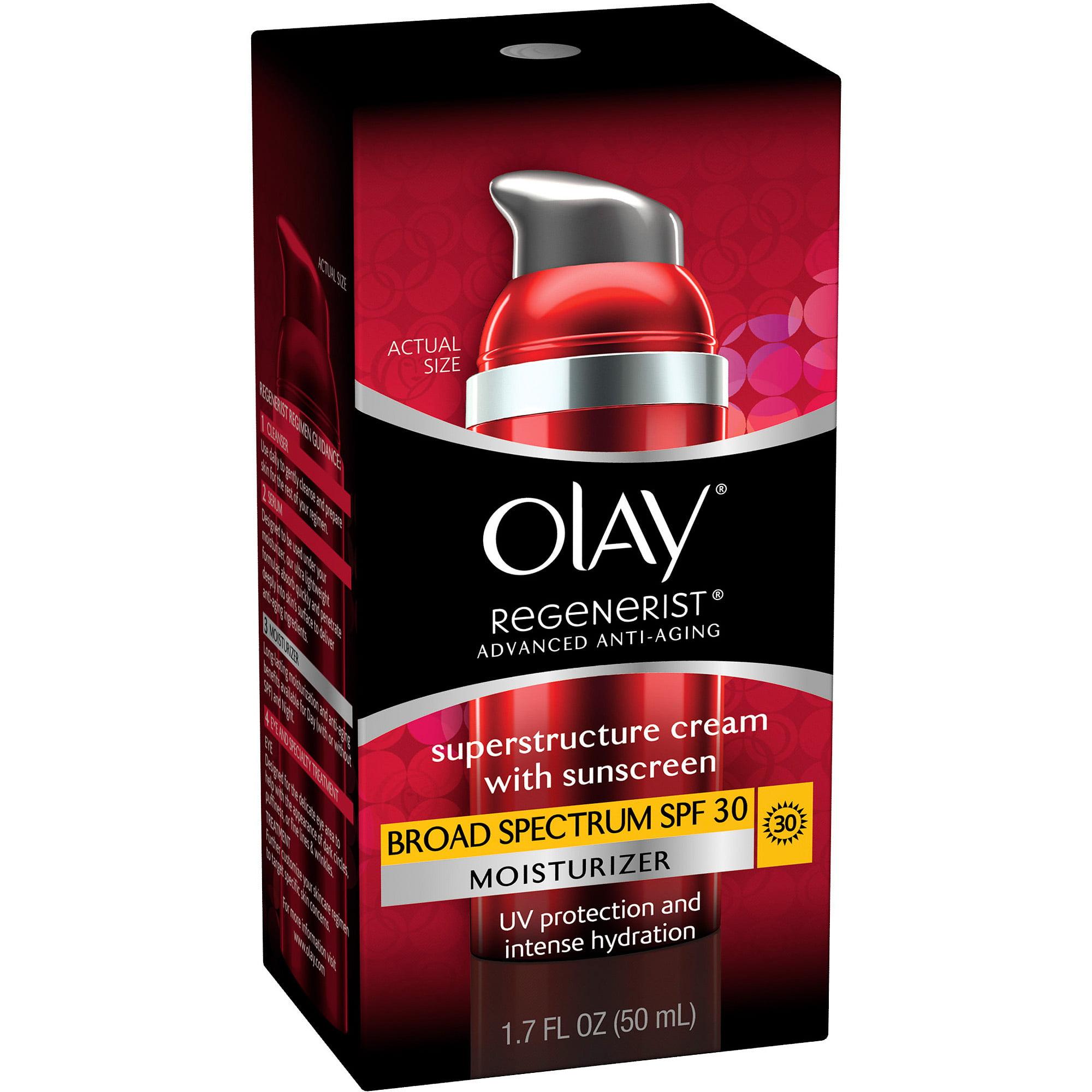 Olay Regenerist Superstructure Cream Facial Moisturizer with Sunscreen Broad Spectrum SPF 30 1.7 Fl Oz