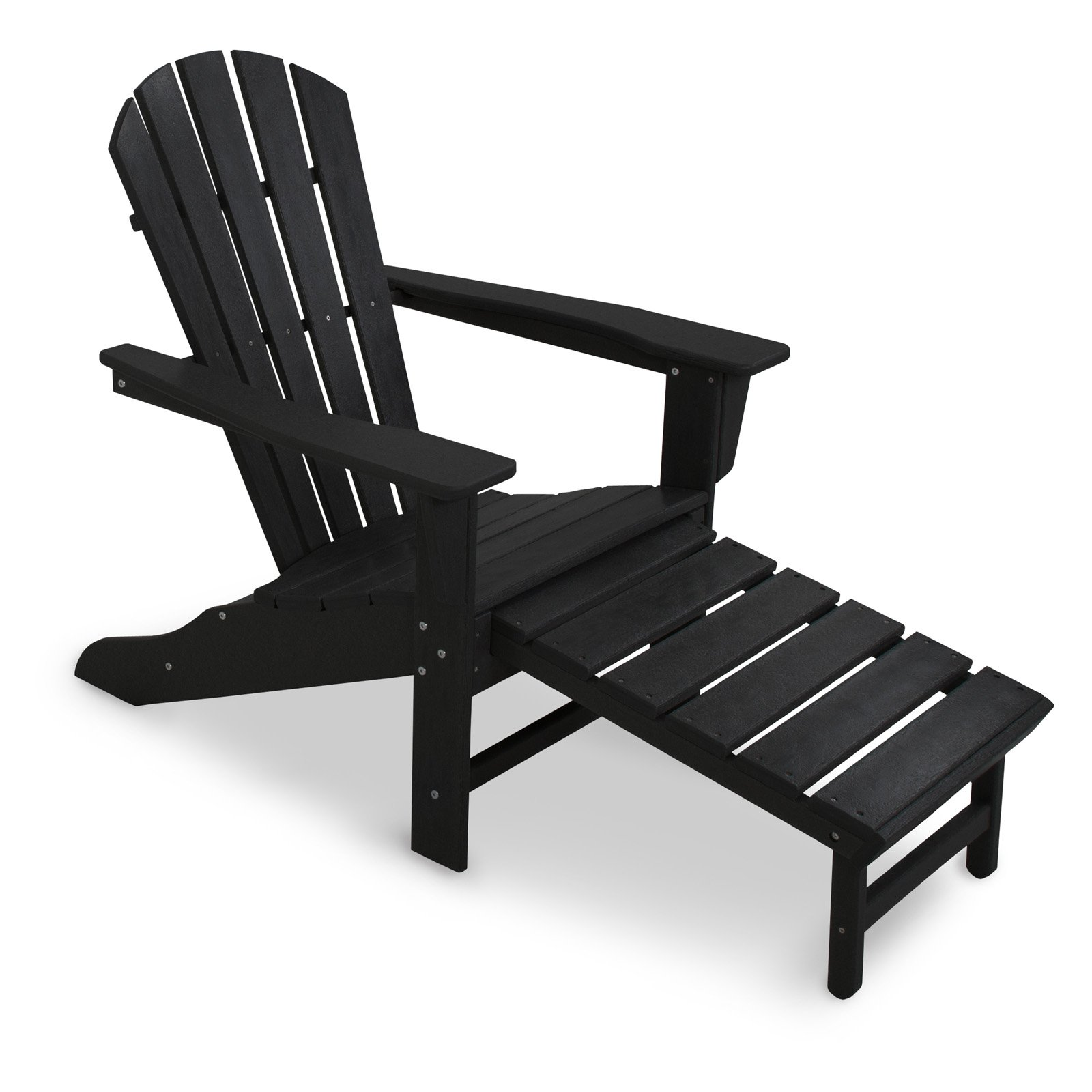 POLYWOOD Recycled Plastic Big Daddy Adirondack Chair with Pull