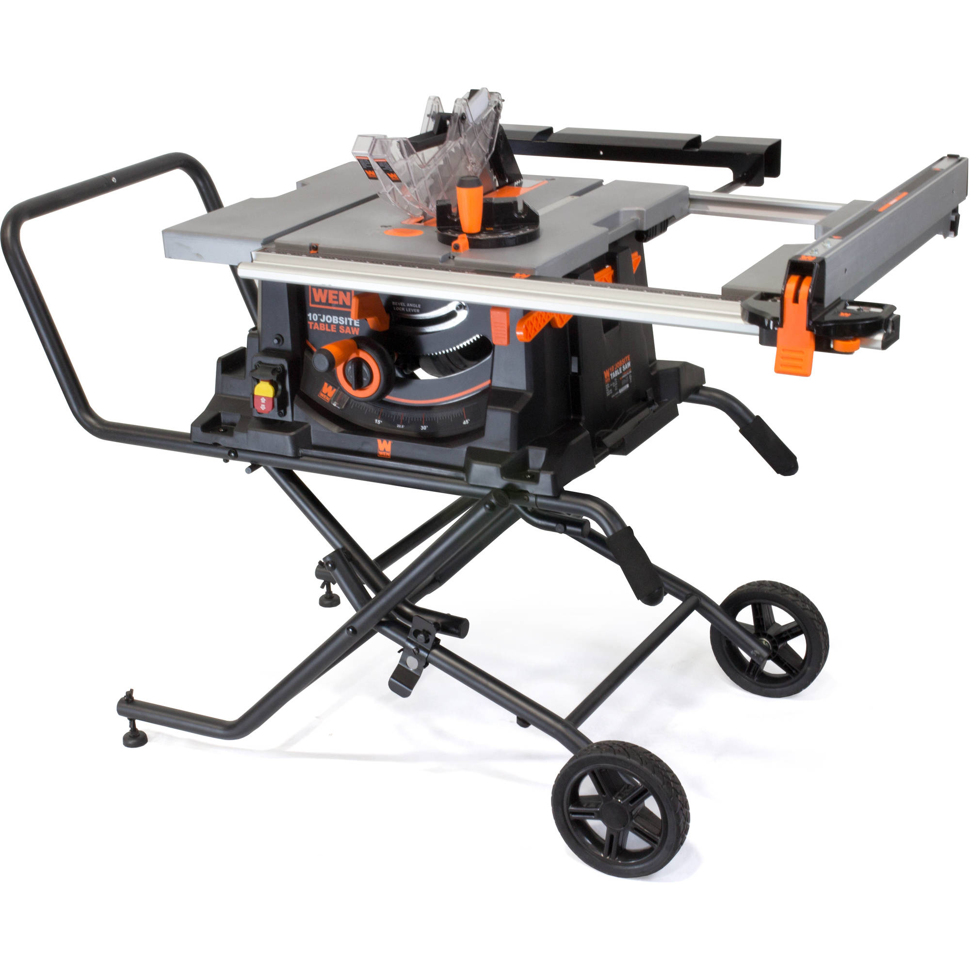 WEN 10-Inch Jobsite Table Saw With Rolling Stand